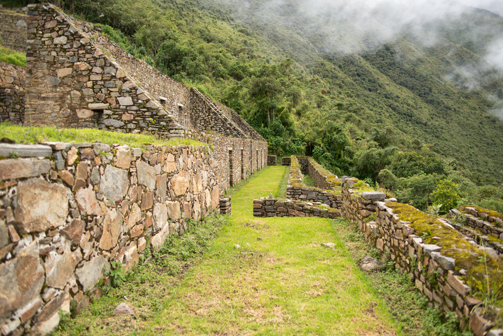 Inca architecture from the ruins of the cerimonial site of Choquequirao, an Inca remote town in the Ande, Perù.