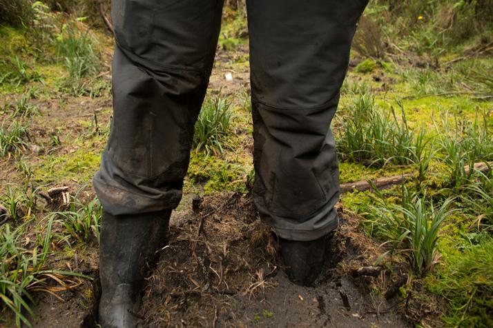 Muddy trail on the Rwenzori Mountains