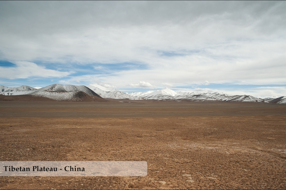 High altitude steppe on the Tibetan Plateau