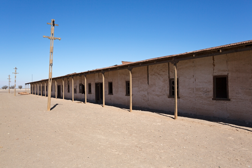 Ruins of a residential block for bachelor workers in Humberstone