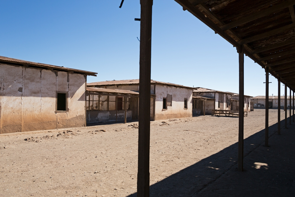 Residential block for the bachelor workers in Humberstone, Chile