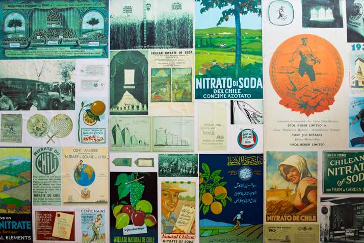 Posters in several languages showing saltpeter as a fertilizer in agriculture